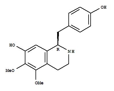142287-93-2,7-Isoquinolinol,1,2,3,4-tetrahydro-1-[(4-hydroxyphenyl)methyl]-5,6-dimethoxy-, (1R)-,7-Isoquinolinol,1,2,3,4-tetrahydro-1-[(4-hydroxyphenyl)methyl]-5,6-dimethoxy-, (R)-;(+)-Anomoline; Anomoline;D-(+)-7-Hydroxy-1-(4'-hydroxybenzyl)-5,6-dimethoxy-1,2,3,4-tetrahydroisoquinoline