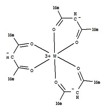 14284-97-0,Tungsten,tris(2,4-pentanedionato-kO,kO')-, (OC-6-11)- (9CI),Tungsten,tris(2,4-pentanedionato)- (7CI); Tungsten, tris(2,4-pentanedionato-O,O')-,(OC-6-11)-; Tungsten acetylacetonate