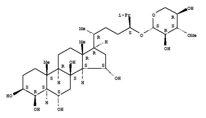143016-87-9,Cholestane-3,4,6,8,15-pentol,24-[(3-O-methyl-b-D-xylopyranosyl)oxy]-,(3b,4b,5a,6a,15a,24S)- (9CI),BorealosideD