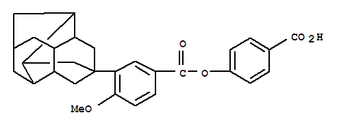 143567-91-3,Benzoic acid,4-methoxy-3-(octahydro-3,5,1,7-[1,2,3,4]butanetetraylnaphthalen-3(2H)-yl)-,4-carboxyphenyl ester (9CI),3,5,1,7-[1,2,3,4]Butanetetraylnaphthalene,benzoic acid deriv.; TD 650