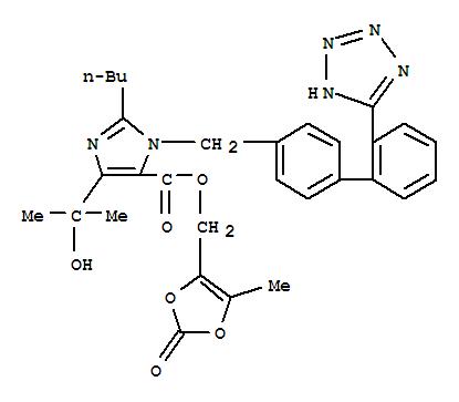 Molecular Structure of 144689-78-1 (Olmesartan)