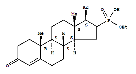 14527-82-3,Phosphonic acid,(3,20-dioxopregn-4-en-16-yl)-, monoethyl ester (8CI),Pregn-4-ene-3,20-dione,16-phosphono-, monoethyl ester; NSC 77619