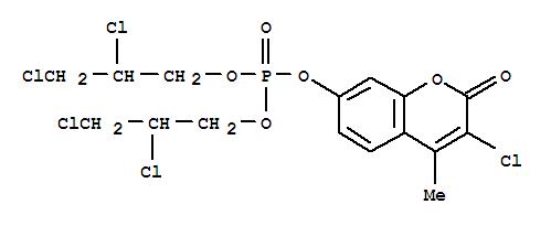 14663-70-8,Coumarin,3-chloro-7-hydroxy-4-methyl-, bis(2,3-dichloropropyl) phosphate (8CI),1-Propanol,2,3-dichloro-, hydrogen phosphate, ester with 3-chloro-7-hydroxy-4-methylcoumarin