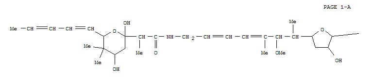 147780-82-3,2,4,6-Heptatrienoicacid,7-[tetrahydro-3-hydroxy-5-[2-methoxy-1,3-dimethyl-7-[[1-oxo-2-[tetrahydro-2,4-dihydroxy-5,5-dimethyl-6-(1,3-pentadienyl)-2H-pyran-2-yl]propyl]amino]-3,5-heptadienyl]-2-furanyl]-(9CI),Ganefromycine1