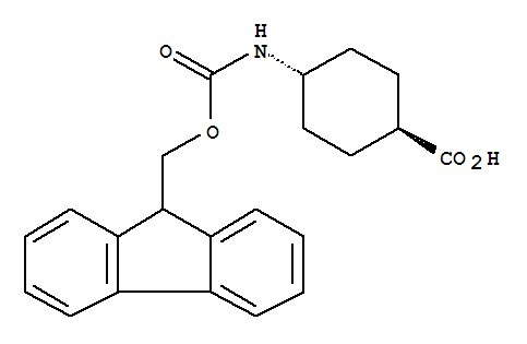 Molecular Structure of 147900-46-7 (Cyclohexanecarboxylicacid, 4-[[(9H-fluoren-9-ylmethoxy)carbonyl]amino]-, trans-)