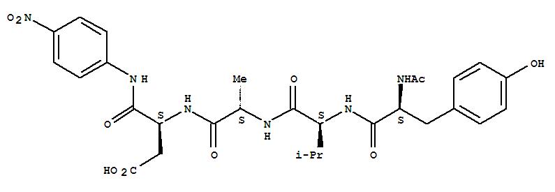 Molecular Structure of 149231-66-3 (L-a-Asparagine,N-acetyl-L-tyrosyl-L-valyl-L-alanyl-N-(4-nitrophenyl)-)
