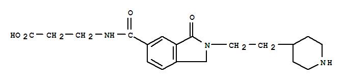 150349-66-9,b-Alanine,N-[[2,3-dihydro-3-oxo-2-[2-(4-piperidinyl)ethyl]-1H-isoindol-5-yl]carbonyl]-,L709780