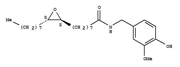 150988-86-6,2-Oxiraneoctanamide,N-[(4-hydroxy-3-methoxyphenyl)methyl]-3-octyl-, (2R,3R)-rel-,Oxiraneoctanamide,N-[(4-hydroxy-3-methoxyphenyl)methyl]-3-octyl-, trans- (9CI);Oxiraneoctanamide, N-[(4-hydroxy-3-methoxyphenyl)methyl]-3-octyl-, trans-(?à)-
