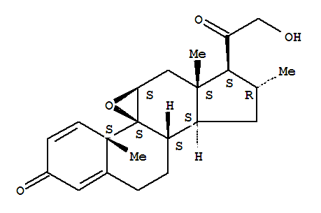 Molecular Structure of 151265-33-7 (Pregna-1,4-diene-3,20-dione,9,11-epoxy-21-hydroxy-16-methyl-, (9b,11b,16a)-)