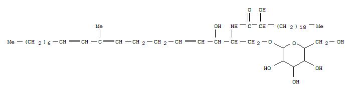 152247-27-3,Heneicosanamide,N-[(1S,2R,3E,7E,9E)-1-[(b-D-glucopyranosyloxy)methyl]-2-hydroxy-8-methyl-3,7,9-heptadecatrienyl]-2-hydroxy-,(2R)- (9CI),Heneicosanamide,N-[1-[(b-D-glucopyranosyloxy)methyl]-2-hydroxy-8-methyl-3,7,9-heptadecatrienyl]-2-hydroxy-,[1S-[1R*(S*),2S*,3E,7E,9E]]-; Ophidiacerebroside B