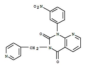 152814-89-6,Pyrido[2,3-d]pyrimidine-2,4(1H,3H)-dione,1-(3-nitrophenyl)-3-(4-pyridinylmethyl)-,RS 25344;RS 25344-000