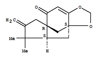 153221-46-6,4H,8H-3a,7a-Methanoazuleno[5,6-d]-1,3-dioxol-8-one,4a,5,6,7-tetrahydro-5,5-dimethyl-6-methylene-, (3aS,4aS,7aR)- (9CI),4H,8H-3a,7a-Methanoazuleno[5,6-d]-1,3-dioxol-8-one,4a,5,6,7-tetrahydro-5,5-dimethyl-6-methylene-, [3aS-(3aa,4ab,7aa)]-; (-)-Tricycloillicinone; Tricycloillicinone