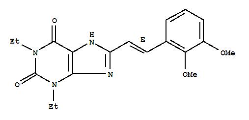 155271-00-4,1H-Purine-2,6-dione,8-[2-(2,3-dimethoxyphenyl)ethenyl]-1,3-diethyl-3,7-dihydro-, (E)- (9CI),