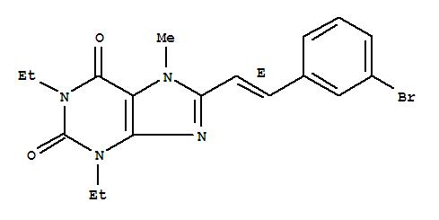155271-85-5,1H-Purine-2,6-dione,8-[2-(3-bromophenyl)ethenyl]-1,3-diethyl-3,7-dihydro-7-methyl-, (E)- (9CI),