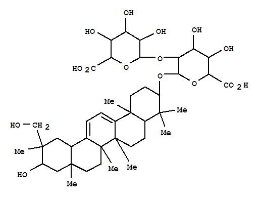 156980-47-1,b-D-Glucopyranosiduronic acid, (3b,20a,21a)-21,29-dihydroxyoleana-9(11),12-dien-3-yl 2-O-b-D-glucopyranuronosyl- (9CI),Oleanane,b-D-glucopyranosiduronic acid deriv.;Yunganoside I2