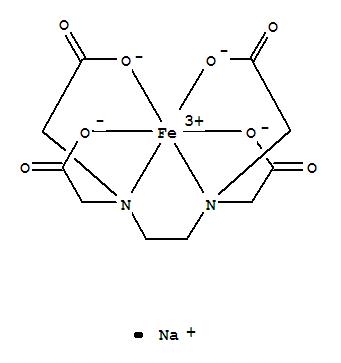 Molecular Structure of 15708-41-5 (Ferrate(1-),[[N,N'-1,2-ethanediylbis[N-[(carboxy-kO)methyl]glycinato-kN,kO]](4-)]-, sodium (1:1), (OC-6-21)-)