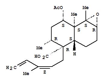 160954-11-0,Naphth[1,2-b]oxirene-4-carboxylicacid,7-(acetyloxy)decahydro-5,7a,7b-trimethyl-4-[(2Z)-3-methyl-2,4-pentadien-1-yl]-,(1aR,3aS,4R,5R,7S,7aS,7bS)-rel-(+)-,Naphth[1,2-b]oxirene-4-carboxylicacid, 7-(acetyloxy)decahydro-5,7a,7b-trimethyl-4-(3-methyl-2,4-pentadienyl)-,[1aa,3aa,4b,4(Z),5b,7b,7ab,7ba]-(+)-; Naphth[1,2-b]oxirene-4-carboxylic acid,7-(acetyloxy)decahydro-5,7a,7b-trimethyl-4-[(2Z)-3-methyl-2,4-pentadienyl]-,(1aR,3aS,4R,5R,7S,7aS,7bS)-rel-(+)- (9CI); Heteroscyphic acid C