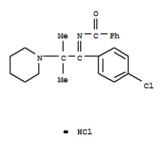 16297-40-8,Benzamide,N-[1-(4-chlorophenyl)-2-methyl-2-(1-piperidinyl)propylidene]-, hydrochloride(1:1),Benzamide,N-[p-chloro-a-(1-methyl-1-piperidinoethyl)benzylidene]-,monohydrochloride (8CI)