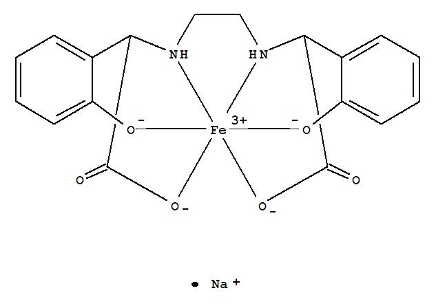Molecular Structure of 16455-61-1 (Ferrate(1-), [[a,a'-[1,2-ethanediyldi(imino-kN)]bis[2-(hydroxy-kO)benzeneacetato-kO]](4-)]-, sodium (1:1))