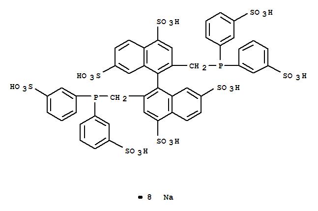 165751-65-5,[1,1'-Binaphthalene]-4,4',7,7'-tetrasulfonicacid, 2,2'-bis[[bis(3-sulfophenyl)phosphino]methyl]-, sodium salt (1:8),[1,1'-Binaphthalene]-4,4',7,7'-tetrasulfonicacid, 2,2'-bis[[bis(3-sulfophenyl)phosphino]methyl]-, octasodium salt (9CI);BINAS 8