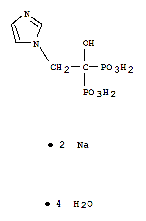 Phosphonic acid,P,P'-[1-hydroxy-2-(1H-imidazol-1-yl)ethylidene]bis-, sodium salt, hydrate(1:2:4)