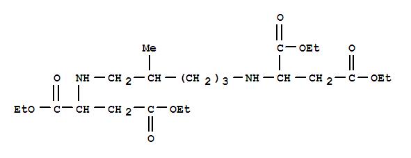 168253-59-6,Aspartic acid,N,N'-(2-methyl-1,5-pentanediyl)bis-, 1,1',4,4'-tetraethyl ester,Asparticacid, N,N'-(2-methyl-1,5-pentanediyl)bis-, tetraethyl ester (9CI); DL-Asparticacid, N,N'-(2-methyl-1,5-pentanediyl)bis-, tetraethyl ester