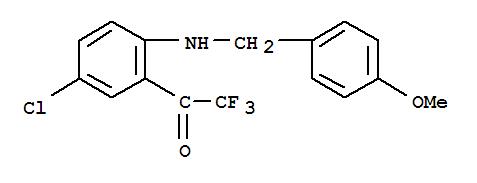 Molecular Structure of 173676-54-5 (Ethanone,1-[5-chloro-2-[[(4-methoxyphenyl)methyl]amino]phenyl]-2,2,2-trifluoro-)