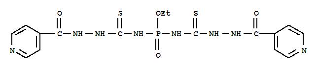 20446-93-9,4-Pyridinecarboxylicacid, 2,2'-[(ethoxyphosphinylidene)bis(iminocarbonothioyl)]dihydrazide (9CI),Phosphorodiamidicacid, N,N'-bis(3-isonicotinoylthiocarbazoyl)-, ethyl ester (8CI);Semicarbazide, 4,4'-phosphinicobis[1-isonicotinoyl-3-thio-, ethyl ester; NSC117824