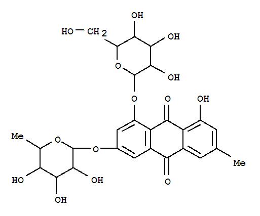 9,10-Anthracenedione,3-[(6-deoxy-a-L-mannopyranosyl)oxy]-1-(b-D-glucopyranosyloxy)-8-hydroxy-6-methyl-(9CI)