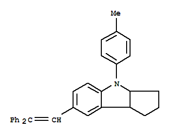 Molecular Structure of 213670-22-5 (Cyclopent[b]indole,7-(2,2-diphenylethenyl)-1,2,3,3a,4,8b-hexahydro-4-(4-methylphenyl)-)