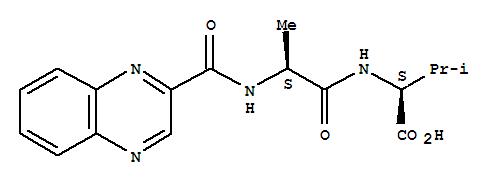 CAS NO:21650-05-5 Valine,N-[N-(2-quinoxalinylcarbonyl)-L-alanyl]-, L- (8CI) Molecular Structure