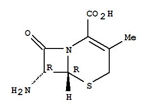 Molecular Structure of 22252-43-3 (5-Thia-1-azabicyclo[4.2.0]oct-2-ene-2-carboxylicacid, 7-amino-3-methyl-8-oxo-, (6R,7R)-)