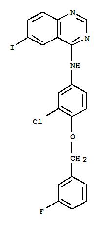 N-{3-chloro-4-[(3-fluorobenzyl)oxy]phenyl}-6-iodoquinazolin-4-amine