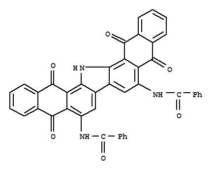 Molecular Structure of 2379-81-9 (Benzamide,N,N'-(10,15,16,17-tetrahydro-5,10,15,17-tetraoxo-5H-dinaphtho[2,3-a:2',3'-i]carbazole-6,9-diyl)bis-)