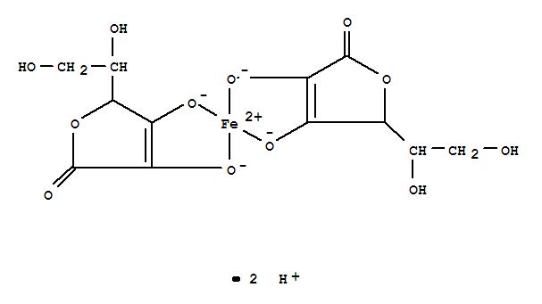 Ferrate(2-),bis[L-ascorbato(2-)-kO2,kO3]-, hydrogen (1:2)