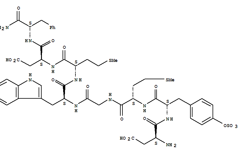 CAS No.25126-32-3,Cholecystokinin-8(swine) (9CI) Suppliers