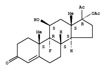 Molecular Structure of 2529-45-5 (Flugestone 17-acetate)