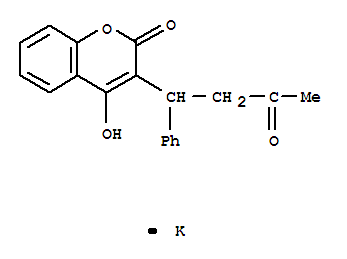 Molecular Structure of 2610-86-8 (2H-1-Benzopyran-2-one,4-hydroxy-3-(3-oxo-1-phenylbutyl)-, potassium salt (1:1))