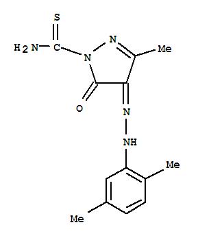 26178-97-2,1H-Pyrazole-1-carbothioamide,4-[2-(2,5-dimethylphenyl)hydrazinylidene]-4,5-dihydro-3-methyl-5-oxo-,2-Pyrazoline-1-carboxamide,3-methyl-4,5-dioxothio-, 4-(2,5-xylylhydrazone) (8CI); NSC 124799