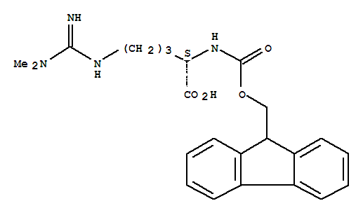 Molecular Structure of 268564-10-9 (L-Ornithine,N5-[(dimethylamino)iminomethyl]-N2-[(9H-fluoren-9-ylmethoxy)carbonyl]-)