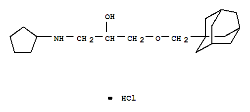 27866-22-4,2-Propanol,1-(cyclopentylamino)-3-(tricyclo[3.3.1.13,7]dec-1-ylmethoxy)-, hydrochloride(1:1),2-Propanol,1-(1-adamantylmethoxy)-3-(cyclopentylamino)-, hydrochloride (8CI)