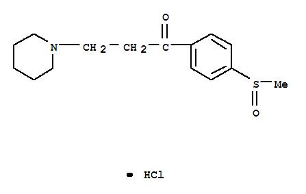 27922-21-0,1-Propanone,1-[4-(methylsulfinyl)phenyl]-3-(1-piperidinyl)-, hydrochloride (1:1),Propiophenone,4'-(methylsulfinyl)-3-piperidino-, hydrochloride (8CI)