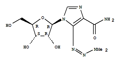 28405-61-0,Imidazole-4-carboxamide,5-(3,3-dimethyl-1-triazeno)-1-b-D-ribofuranosyl- (8CI),NSC140853