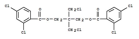 28456-77-1,Benzoic acid,2,4-dichloro-, 2,2-bis(chloromethyl)trimethylene ester (8CI),1,3-Propanediol,2,2-bis(chloromethyl)-, bis(2,4-dichlorobenzoate) (8CI); 2,4-Dichlorobenzoicacid, 2,2-bis(chloromethyl)trimethylene ester; NSC 405548