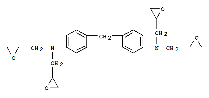 Molecular Structure of 28768-32-3 (2-Oxiranemethanamine,N,N'-(methylenedi-4,1-phenylene)bis[N-(2-oxiranylmethyl)-)