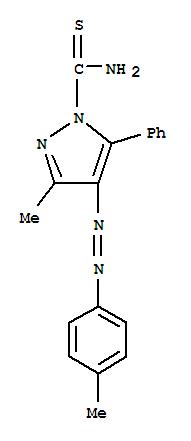 29147-07-7,1H-Pyrazole-1-carbothioamide,3-methyl-4-[2-(4-methylphenyl)diazenyl]-5-phenyl-,Pyrazole-1-carboxamide,3-methyl-5-phenylthio-4-(p-tolylazo)- (8CI); NSC 127093