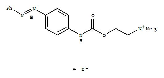 29739-76-2,Ethanaminium,N,N,N-trimethyl-2-[[[[4-[(1E)-phenylazo]phenyl]amino]carbonyl]oxy]-, iodide(9CI),Choline,iodide, p-(phenylazo)carbanilate, (E)- (8CI); Carbanilic acid, p-(phenylazo)-,ester with choline iodide, E- (8CI)