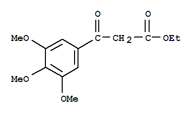 Molecular Structure of 3044-56-2 (Benzenepropanoic acid,3,4,5-trimethoxy-β-oxo-,ethyl ester)