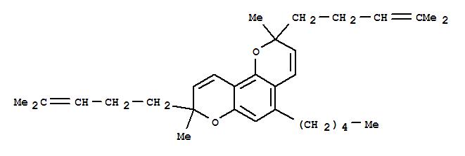 31498-30-3,2H,8H-Benzo[1,2-b:3,4-b']dipyran,2,8-dimethyl-2,8-bis(4-methyl-3-pentenyl)-5-pentyl- (8CI,9CI),Biscannabichromene