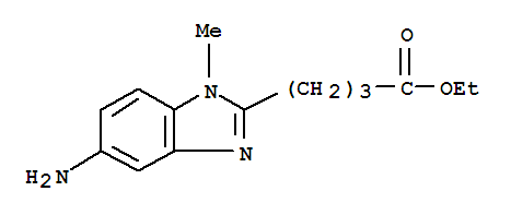 1-Methyl-5-amino-1H-benzimidazole-2-butanoic acid ethyl ester